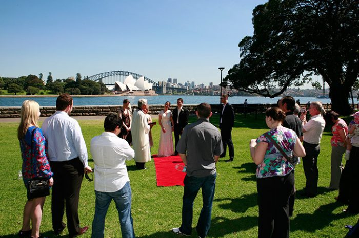 Sydney Botantical Gardens Wedding