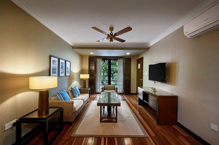 Taraas Beach Resort Garden Suite living room
