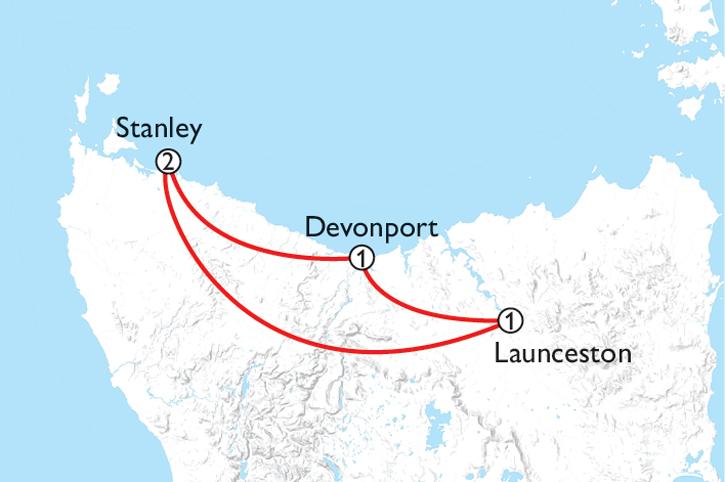 Tasmania's Food & Wine Trail Map