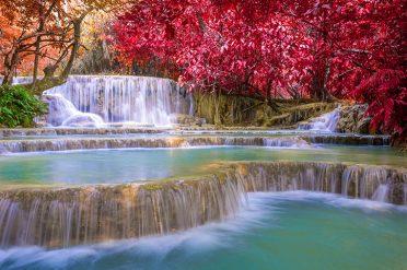 Tat Kuang Si Waterfalls Laos