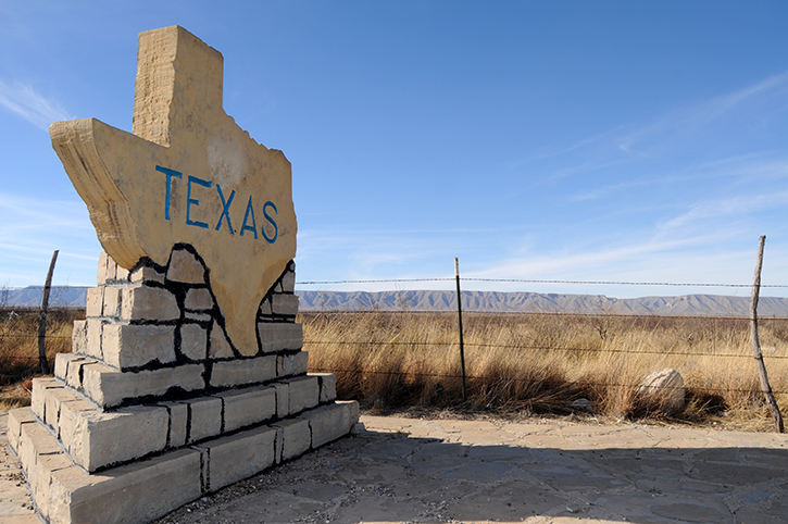Texas Sign, South USA