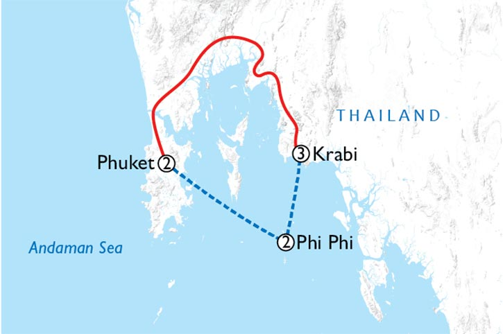 Thai Island Hopper West Map