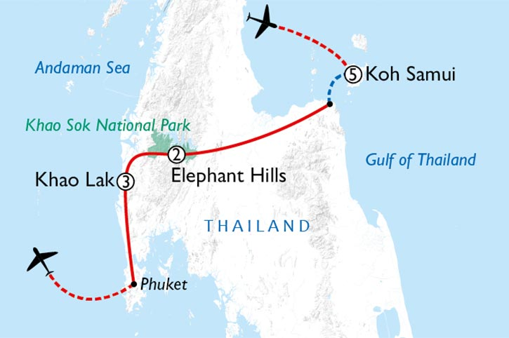 Thailands Gem Map