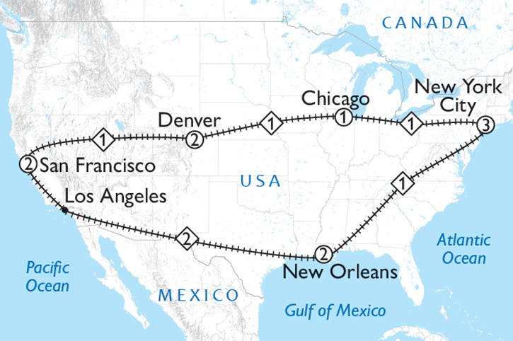 The All American Rail Map