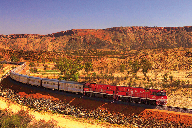 AUSTRALIA RAIL: Ghan and Indian Pacific rail journeys and holidays