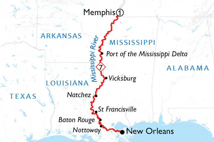 Jewels of the Mississippi Map