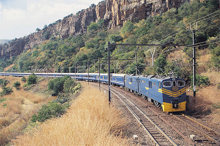 SOUTH AFRICA RAIL: Rovos Rail, Blue Train and Shongololo Express rail journeys and holidays