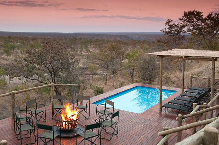 The Elephant Camp Pool And Fire pit