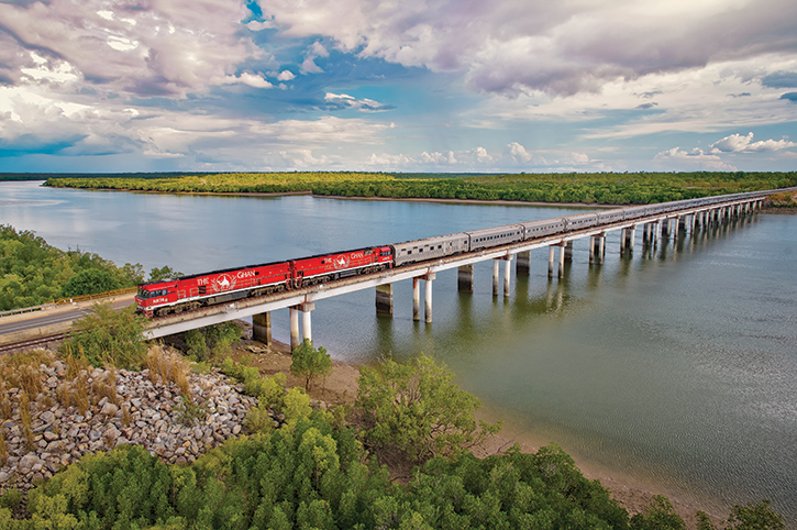 The Ghan Crossing The Victoria River