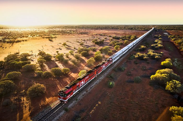 The Ghan at Dusk, Train, Australia
