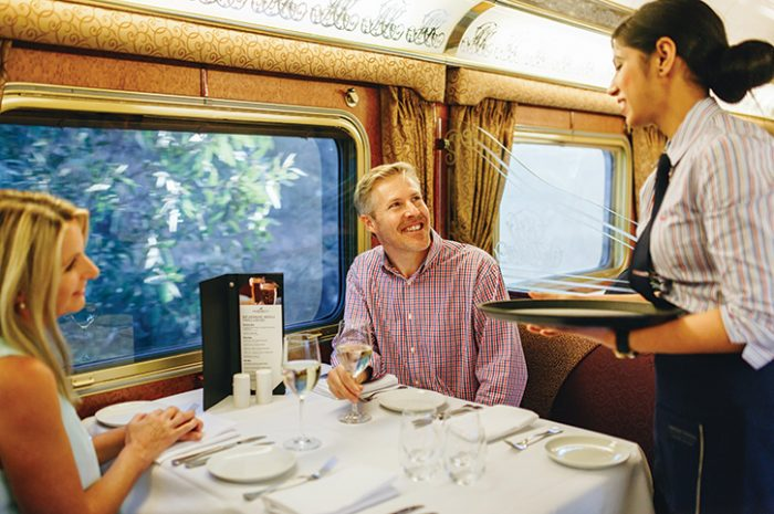 The Restaurant Carriage Aboard The Ghan, Train, Australia