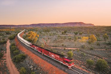 The Ghan Alice Springs At Sunset