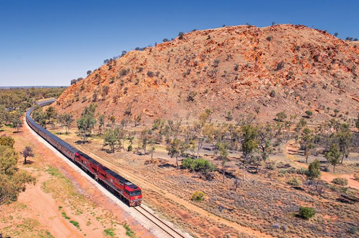 The Ghan Southern Entrance to Alice Springs