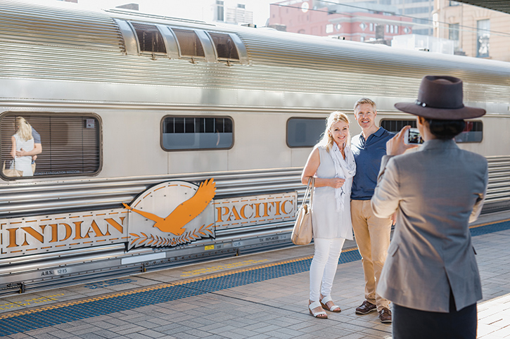 Boarding the Indian Pacific