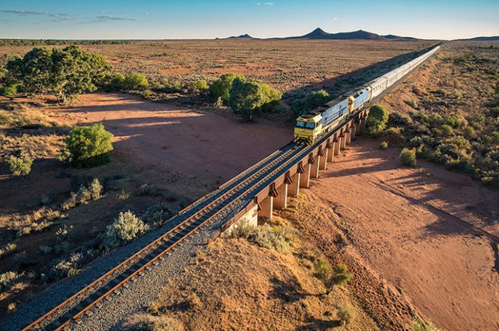 The Indian Pacific Heading East To Broken Hill