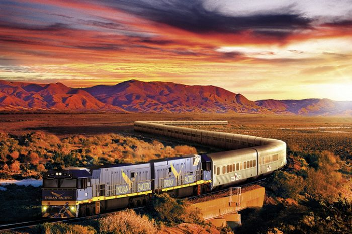 Indian Pacific Travelling Through The Outback