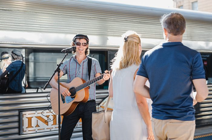 The Indian Pacific Singer On Platform