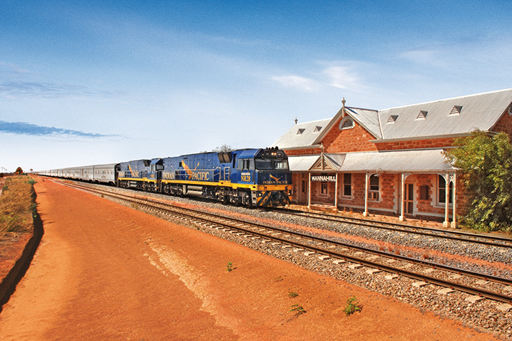Indian Pacific at Manna Hill Station