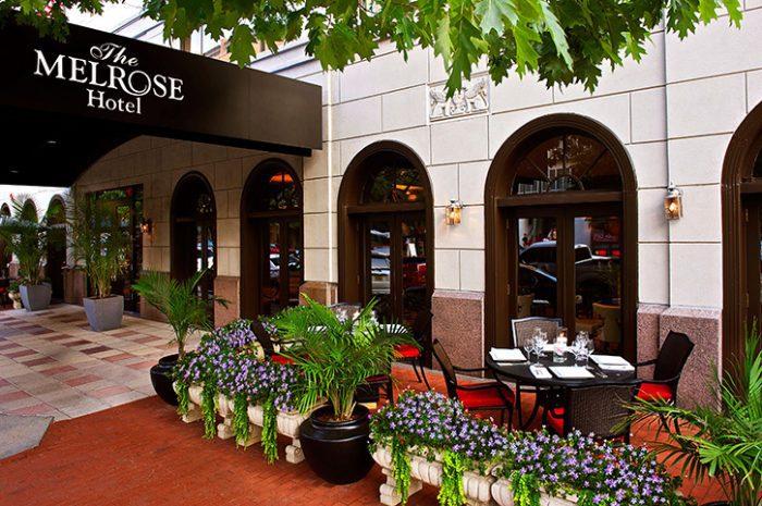 The Melrose Hotel Entrance