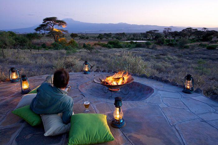 Tortilis Camp campfire