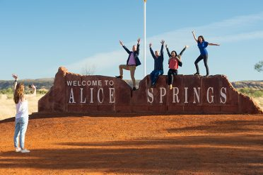 Tour Group in Alice Springs