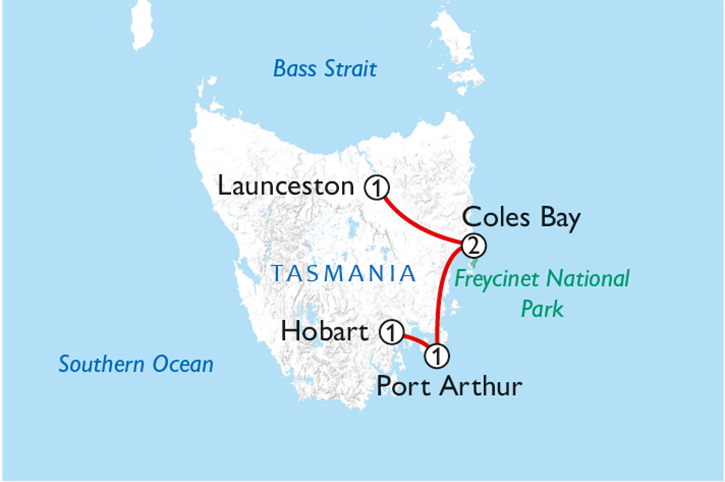 Touring Tasmania Map