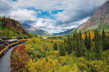 Train Journey In Denali National Park, Alaska