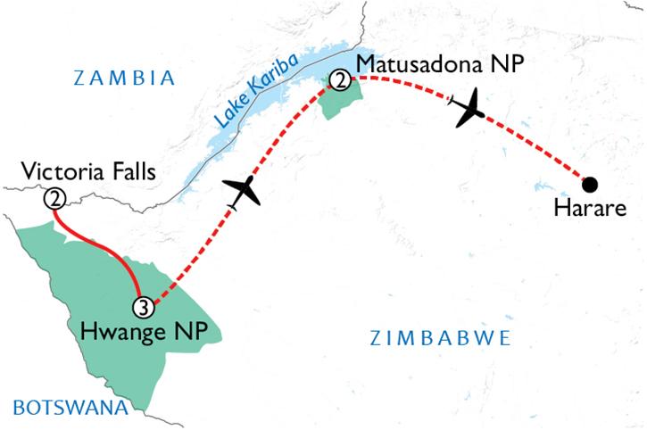 Treasures of Zimbabwe Map