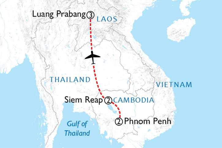Treasures Of Cambodia And Laos Map