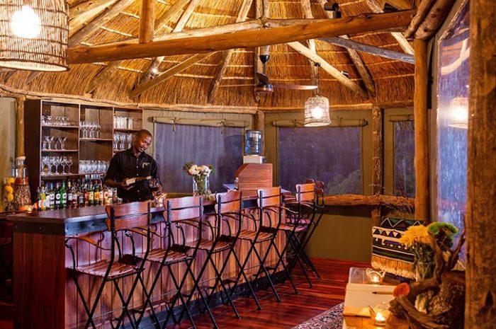 Treetops Safari Lodge Bar Area