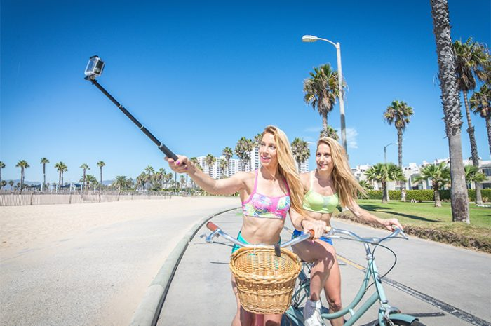 Two Friends Cycling in Los Angeles