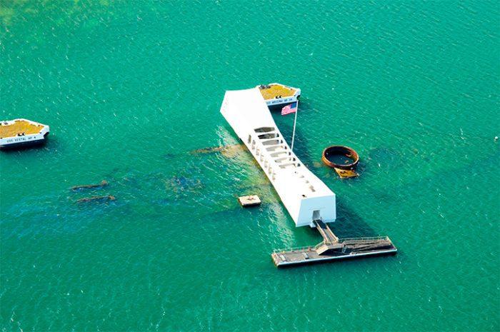 USS Arizona Memorial in Pearl Harbor,