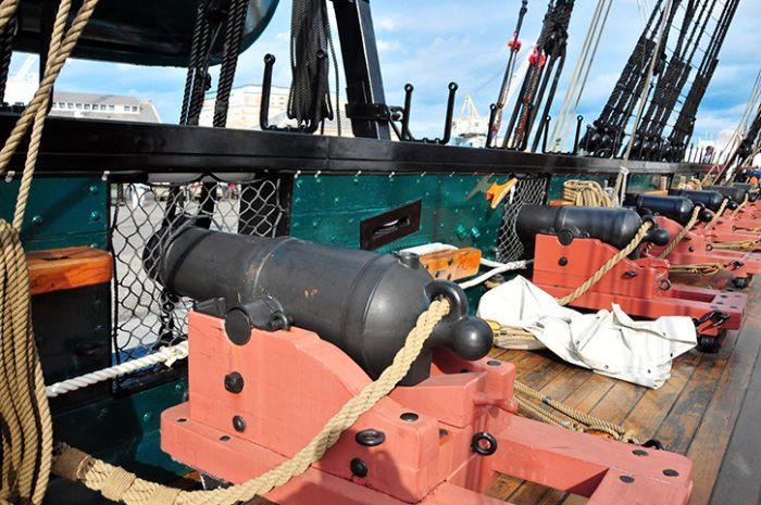 Cannon, USS Constitution, Boston, USA