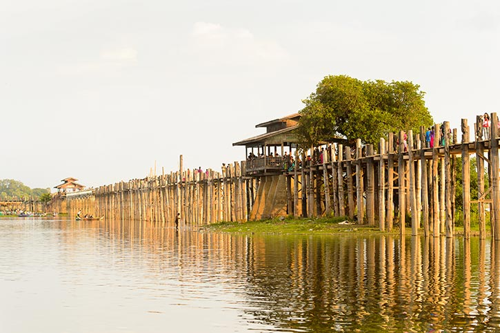 U bein Bridge Burma