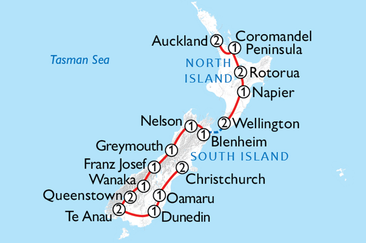Ultimate New Zealand Map