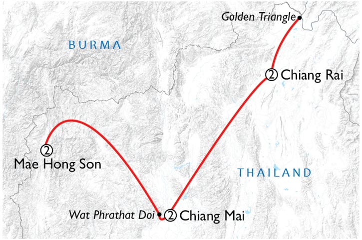 Ultimate Northern Thailand Map