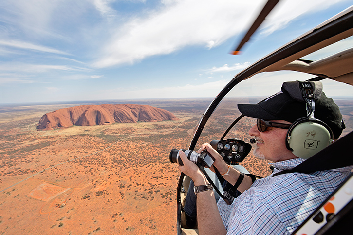 Helicopter Flight Over Uluru