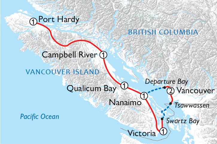 Vancouver Island Adventure Map