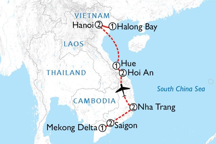 Vietnam Experience Map