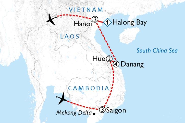 Vietnam In Style Map