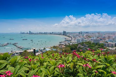 View of Pattaya city beach at Pratumnak, Thailand