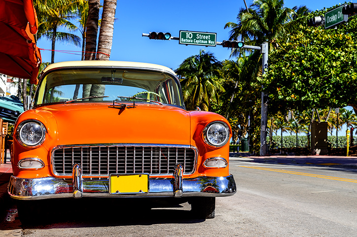 Vintage Car, Miami, Florida, South USA