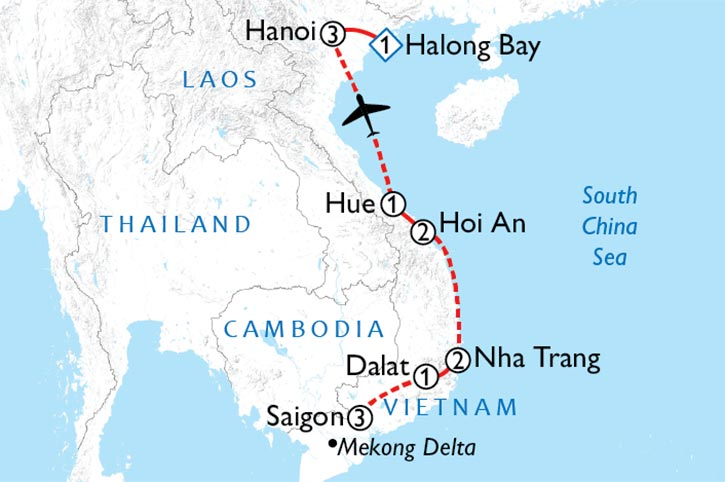 Visions Of Vietnam Map