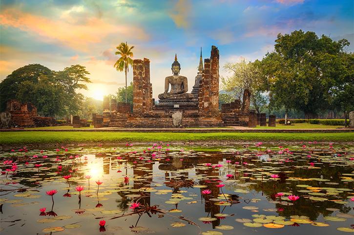 Wat Mahathat Temple, Sukhothai, Thailand