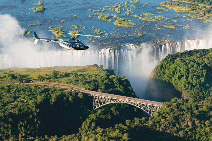 Helicopter flight, Victoria Falls