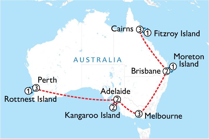 Wildlife Islands Of Australia Map