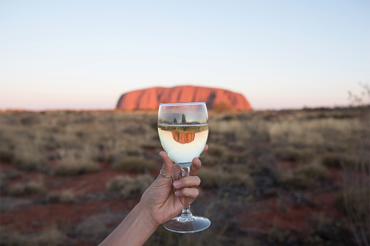 Wine at Ayers Rock