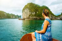 Woman in Halong Bay