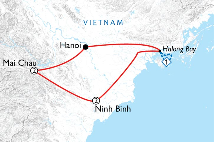 Wonders Of Northern Vietnam Map
