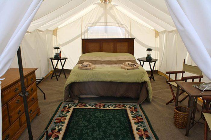 Yellowstone Under Canvas Tent Interior